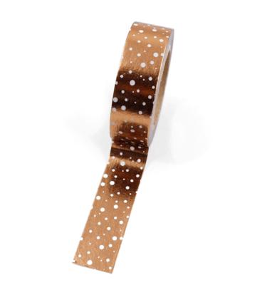 Washi tape – Cobre com bolinhas brancas