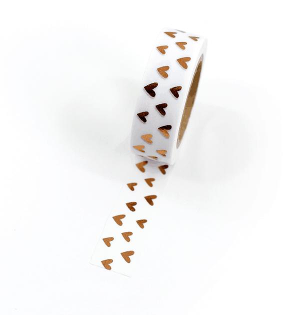 Washi tape – Corações cobre