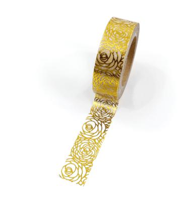 Washi tape – Floral dourado