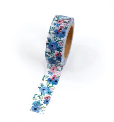 Washi tape – Floral rosa e azul