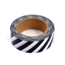 Washi tape – Listras diagonais preto e branco2