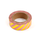 Washi tape – Listras diagonais rosa e dourado2