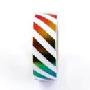 Washi tape – Llistras colorida branco e colorido metalizado2
