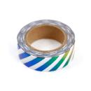 Washi tape – Llistras colorida branco e colorido metalizado3