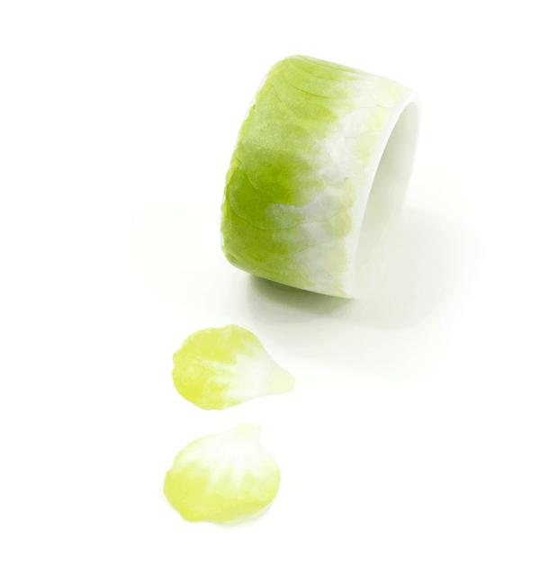 Washi tape – Pétalas verde e branco