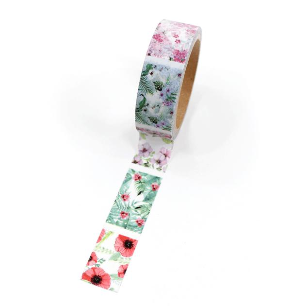 Washi tape – Padrões floral - Com picote