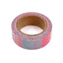 Washi tape – Padrões rosa e azul com corações, quadrados e bolinhas3