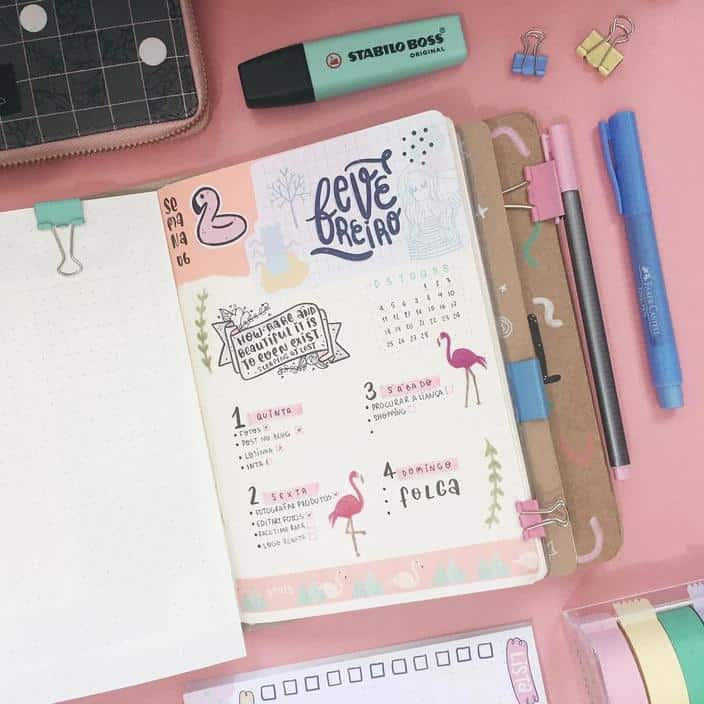 Planner ou bullet journal to do list