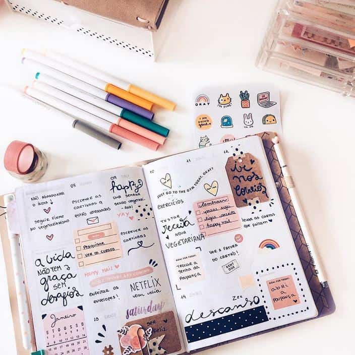 Planner ou bullet journal como escolher