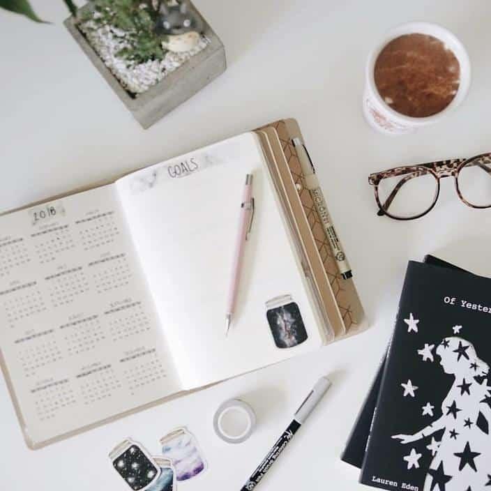 Planner ou bullet journal planejamento