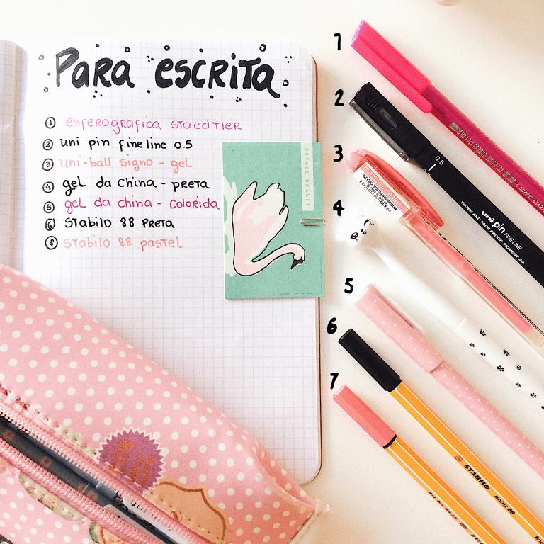 Quais são as canetas mais indicadas para usar em bujo e planner?