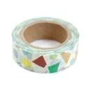 Washi tape – Amarelo claro com formas geométricas coloridas1