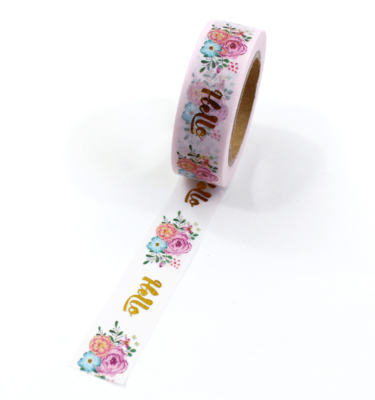 Washi tape – Hello + floral
