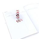Washi tape – Listras diagonais branca e metalizado dourado, prata e vermelho3