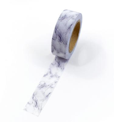 Washi tape – Marble cinza e branco