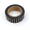 Washi tape – Poá preto e dourado1