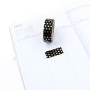 Washi tape – Poá preto e dourado3