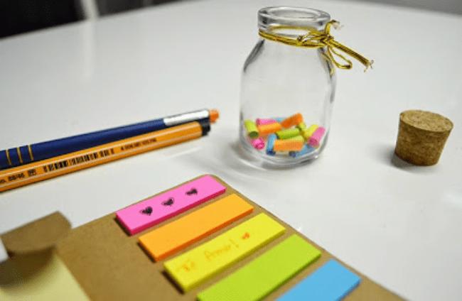 Dicas DIY para presentear seu melhor amigo jarra com mensagens