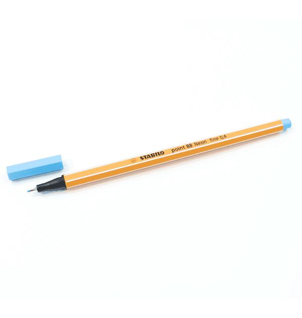 Caneta-Stabilo-–-Ponta-extrafina-–-Neon-–-Cor-azul-neon