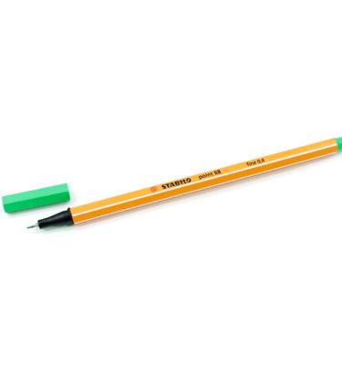 Caneta-Stabilo-–-Ponta-extrafina-–-Neon-–-Cor-verde-esmeralda-claro