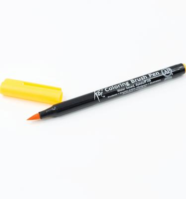 Caneta-pincel-–-Koi-Coloring-Brush-–-Cor-amarelo-escuro