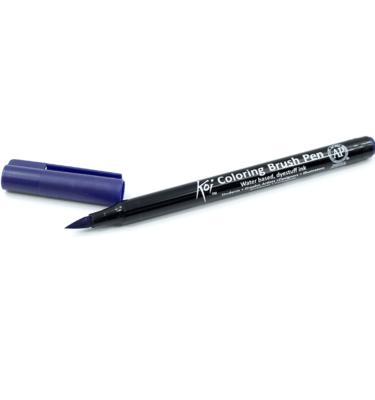 Caneta-pincel-–-Koi-Coloring-Brush-–-Cor-azul-prússia