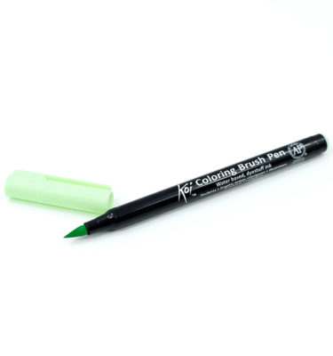 Caneta-pincel-–-Koi-Coloring-Brush-–-Cor-verde-ice