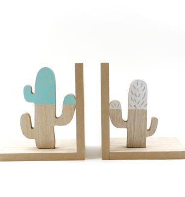 Aparador de livro - Cactus verde e branco (2)