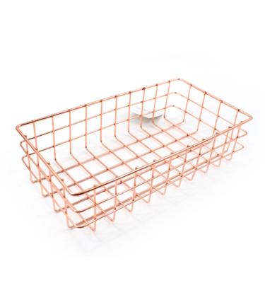 Cesta porta objeto - Retangular cobre