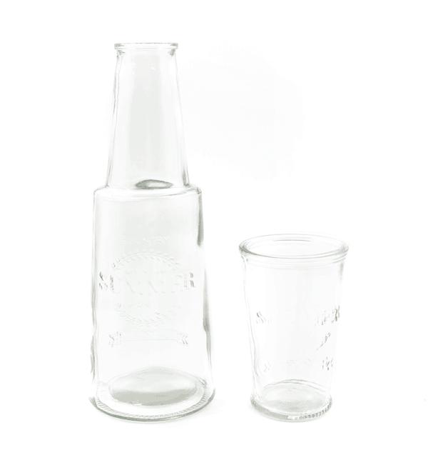 Moringa de vidro - Summer Color - Transparente - 800ml