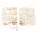 Quadro de letras – Branco com letras douradas1