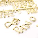 Quadro de letras – Branco com letras douradas3