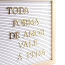 Quadro de letras – Branco com letras douradas5