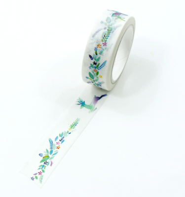 washi tape - flores coloridas e alce