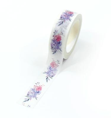 washi tape - flores violetas