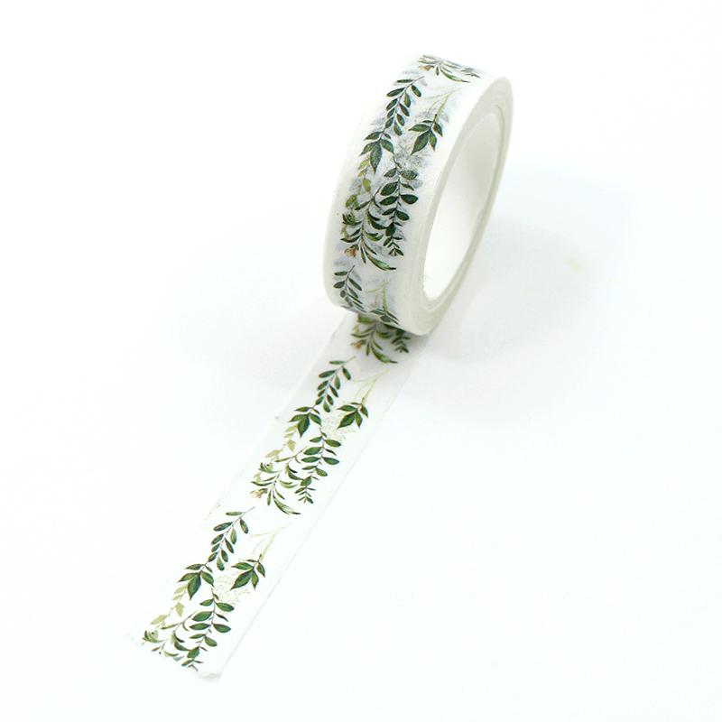 washi tape - green leaves