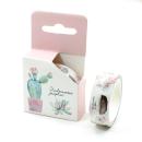 washi tape – suculentas e vaso de flores