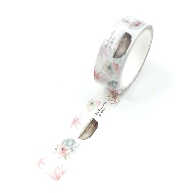 washi tape - suculentas e vaso de flores1