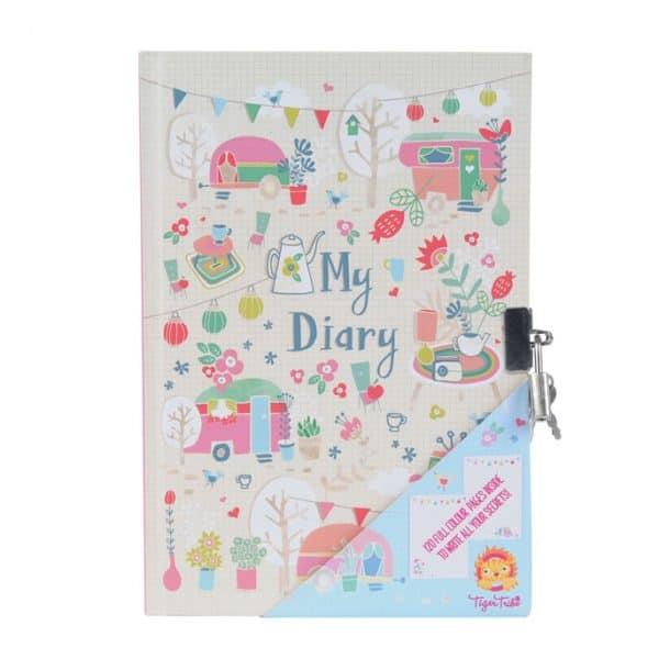 Papelaria nostálgica diário cadeado