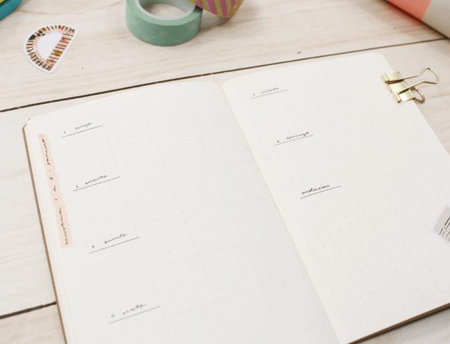 Como criar um bullet journal com o mini bloco da A. Craft planner (1)