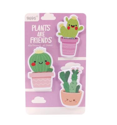 Kit-3-blocos-auto-adesivo---Plants-are-friends---Roxo