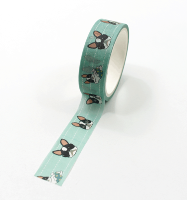 Washi-tape-–-Celebrity-Dog---Verde---Buldog-Francês-faces3