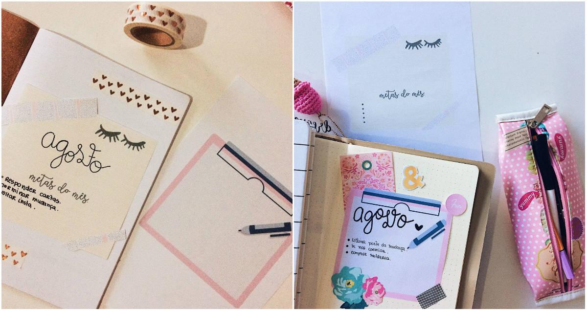 5 ideias DIY de capas mensais para planner ou bullet journal (2)