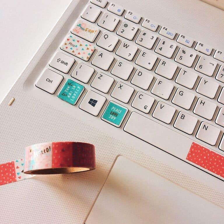 Como usar washi tapes de forma criativa teclado