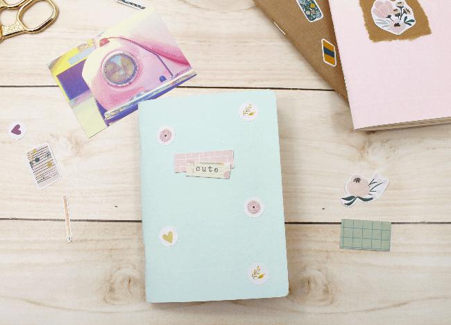 3 Ideias para decorar a capa dos mini blocos para planner com adesivos da A. Craft mentinha