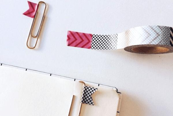 Como usar washi tapes de forma criativa marca páginas clips