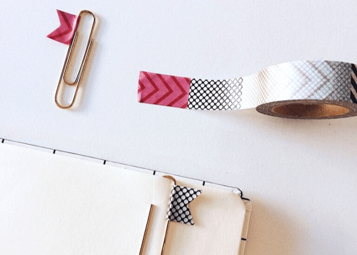 Como usar washi tapes de forma criativa marca páginas clips