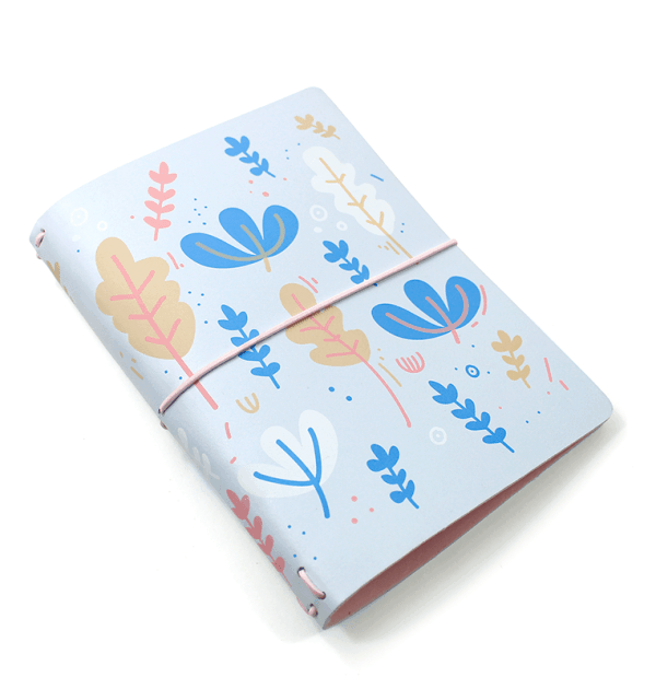 Planner-A.Craft-–-Capa-Céu-Azul-estampa-flores-aquáticas-(para-4-blocos)