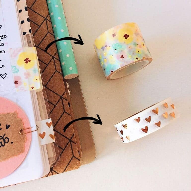Como usar washi tapes de forma criativa marca páginas