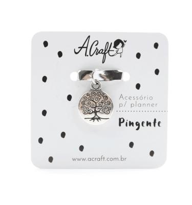 Acessório para planner A.Craft – Pingente prata – Árvore da vida